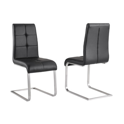 MILO-BOX OF 2 SIDE CHAIR-BLACK