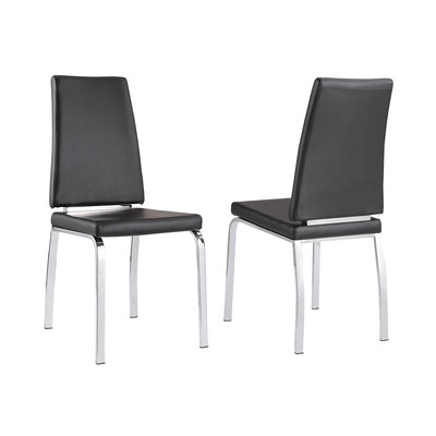 Viva Box of 2 Side Chairs - Black