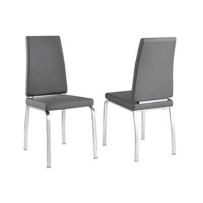 Viva Box of 2 Side Chairs - Grey