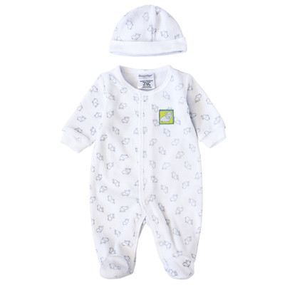 Newborn Girls Onesie with Hat - Lamb Print