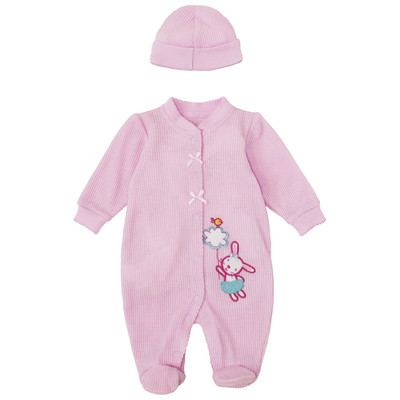 Newborn Girls Onesie with Hat - Bunny