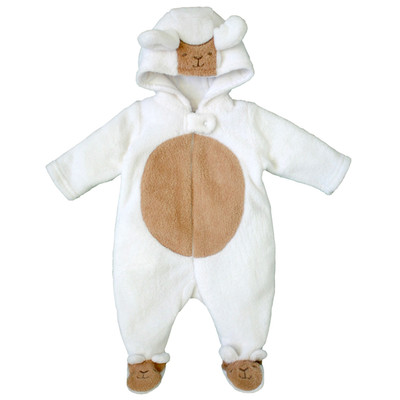 Newborn Girls Onesie with Hood - Lamb newborn costumes Sleeper