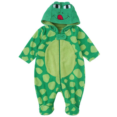 Newborn Neutral Onesie with Hood - Frog newborn costumes Sleeper