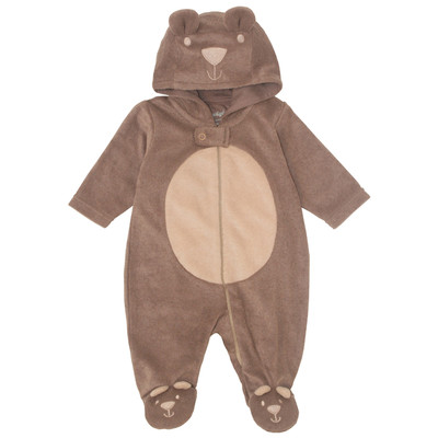 Newborn Boys Onesie with Hood - Bear Plush newborn costumes Sleeper
