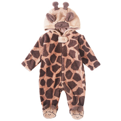 Newborn Neutral Onesie with Hood - Giraffe newborn costumes Sleep