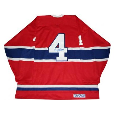 Jean Beliveau Autographed Canadiens Replica Jersey
