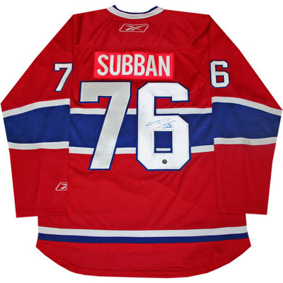 P.K. Subban Autographed Canadiens Pro Jersey
