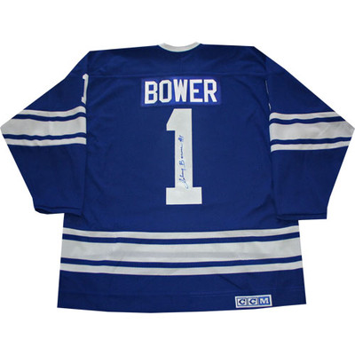 Johnny Bower Autographed Leafs Jersey