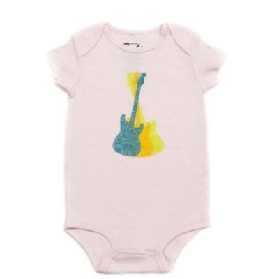 Fender Guitar Trio Girl's Onesie - Pink, 12 Months - Fender - 910-5005-406