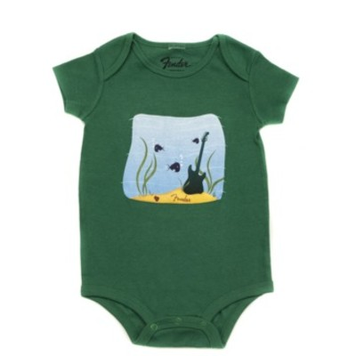 Fender Pick Fish Onesie - Green, 6 Months - Fender - 910-5007-306