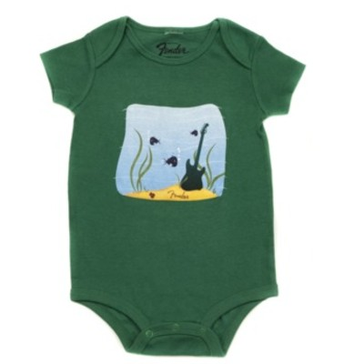 Fender Pick Fish Onesie - Green, 18 Months - Fender - 910-5007-506