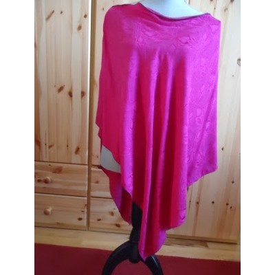 PINK PURE SILK PONCHO