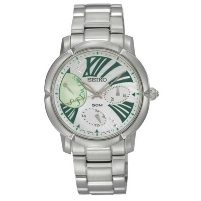 WATCH MULTIFUNCTIONAL FOR HER (GREEN/SILVER)