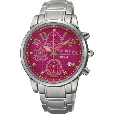 WATCH LADIES CHRONOGRAPH SERIES - PINK DIAL