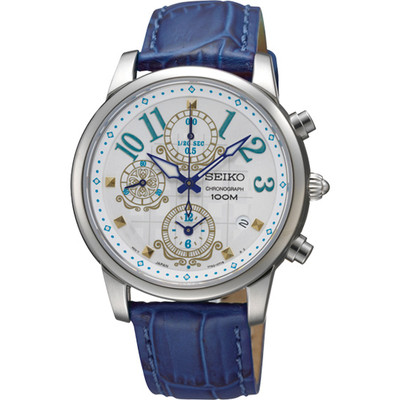 WATCH LADIES CHRONOGRAPH SERIES - BLUE LEATHER STRAP