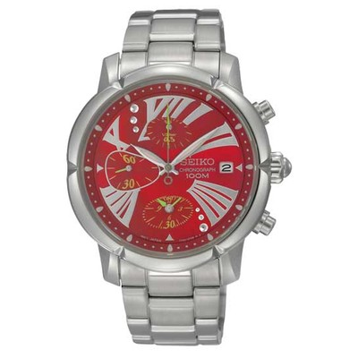 WATCH CHRONOGRAPH SWIRL FOR HER (RED DIAL)