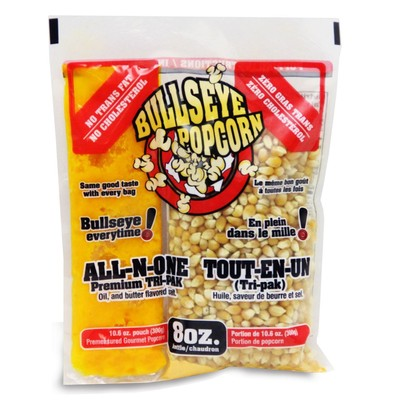 Box of 24 prepacked portions of popcorn / 8oz