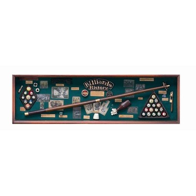 Shadow Box - Billiard History Wall decor