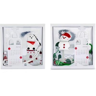 Bone Fun Memory Bundle 1 - 2  x 4gb Thumb Drives - Polar Bear / Snowman Gift Sets