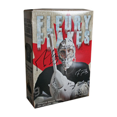 Marc-Andre Fleury Autographed Fleury Flakes Cereal Box