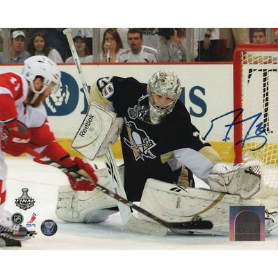 Marc-Andre Fleury Autographed 8X10 Photo (w/Cleary)