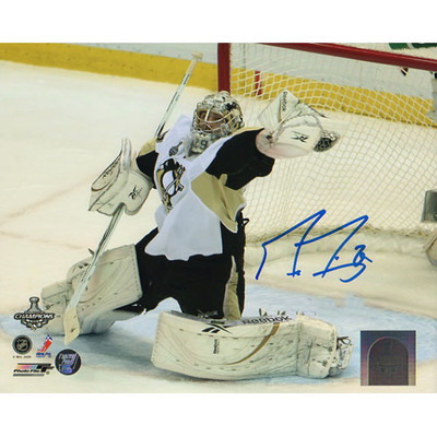 Marc-Andre Fleury Autographed 8X10 Photo (Glove Save)