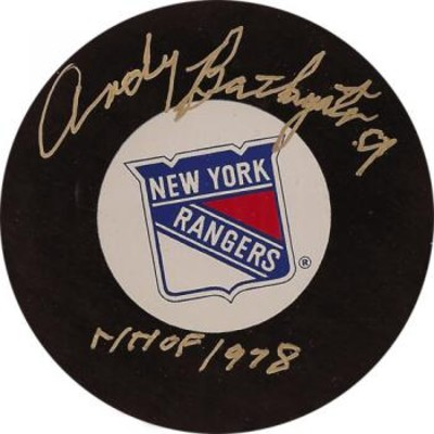 Andy Bathgate Autographed Puck