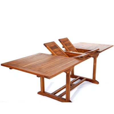 8ft Teak Patio Extension Table - with foldable butterfly  leafs