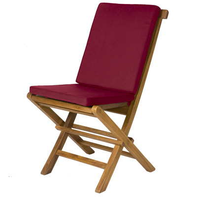 2-Folding Chair Cushions - MAROON