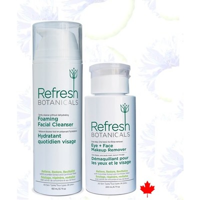 Refresh Botanicals Makeup Remover and Cleanser Team