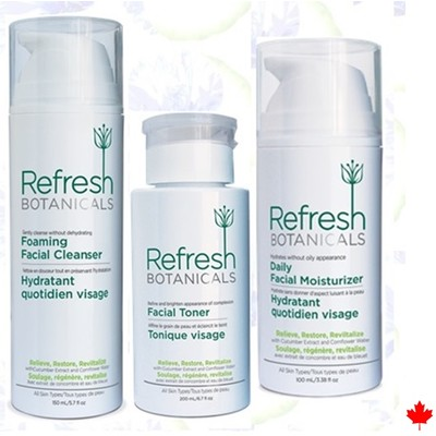 Refresh Botanicals Cleanser, Toner, Daily