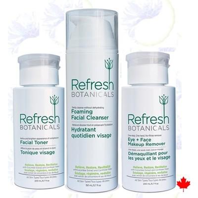 Refresh Botanicals Toner, Cleanser, Makeup Remover