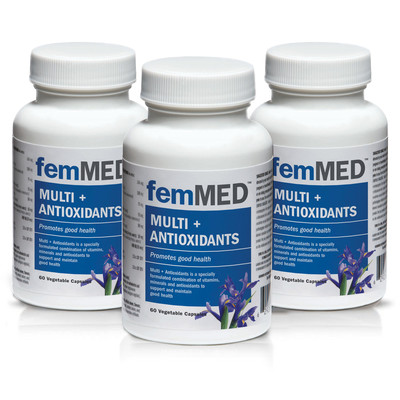 femMED Multi + Antioxidants 3 pk (3 x 60 vegetable capsules)