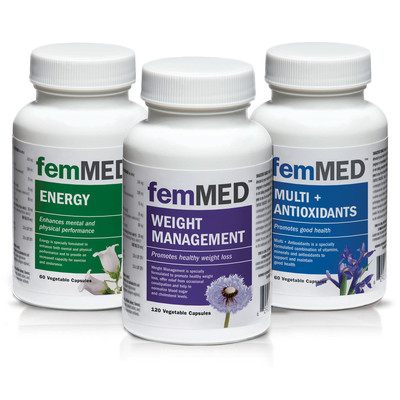 femMED Weight + Energy + Multi (60 + 120 +60 vegetable  capsules)