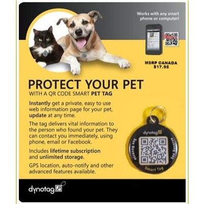 Pet ID tag - WEB/GPS enabled NEW!