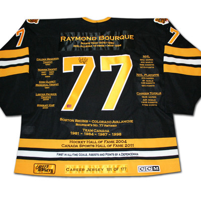 Ray Bourque Career Jersey - Autographed - LTD ED 177 - Boston Bruins