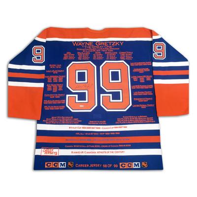 Wayne Gretzky Career Jersey - Signed - LTD ED 99 - Edmonton Oilers - WGA/UDA