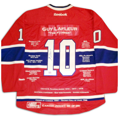 Guy Lafleur Career Jersey - Autographed - LTD ED 299 - Montreal Canadiens