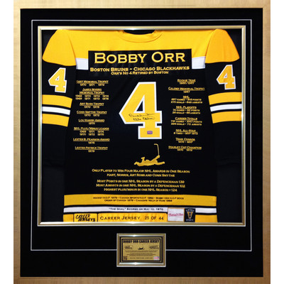 Bobby Orr Elite Edition Career Jersey - Autographed - Ltd Ed 44 - Boston Bruins