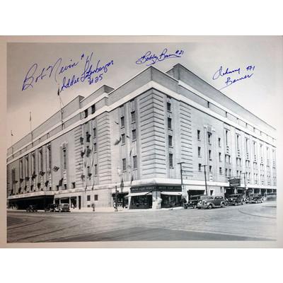 Bob Nevin, Eddie Litzenberger, Johnny Bower, Ed Shack, Bobby Baun - Leafs