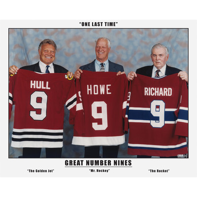 The Three Great Nines - Maurice Richard, Gordie Howe and Bobby Hull