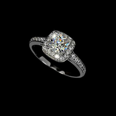 Bridal Collection - 1.25 Carat Princess Cut Cubic Zirconia Ring