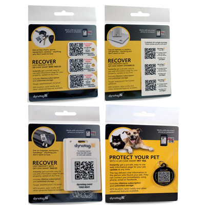 WEB/GPS ID labels - ID tags for the entire family