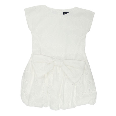 Hoshie Eyelet Bubble Dress in White