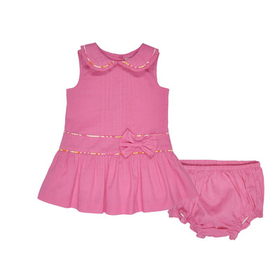Hyesmine Infant Lawn Dress w/ Panty in Fuchsia
