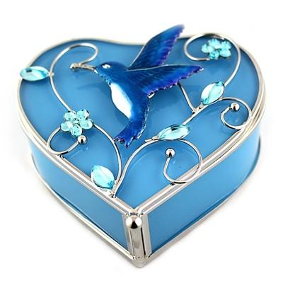Blue Humming Bird Jew Box