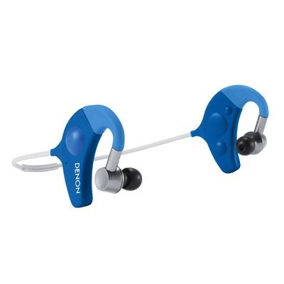 Denon AH-W150 Exercise Freak Bluetooth Sports In-Ear Headphones (Blue)