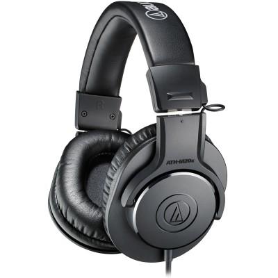 Audio-Technica ATH-M20x Professional Monitor Headphones - Audio-Technica - ATH-M20X (HAHPATEATHM20X)