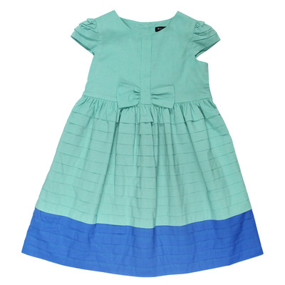 Hermosa Pleated Lawn Dress in Teal