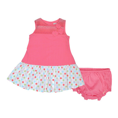 Irma Infant Smocked Dress w/Panty in Coral
